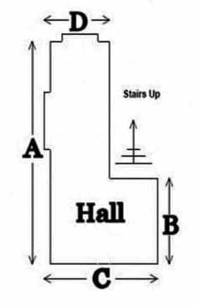 The Carpet Warehouse hall-measure Measuring